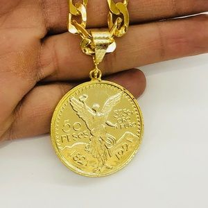 Other - Gold Filled Centenario pendant with chain